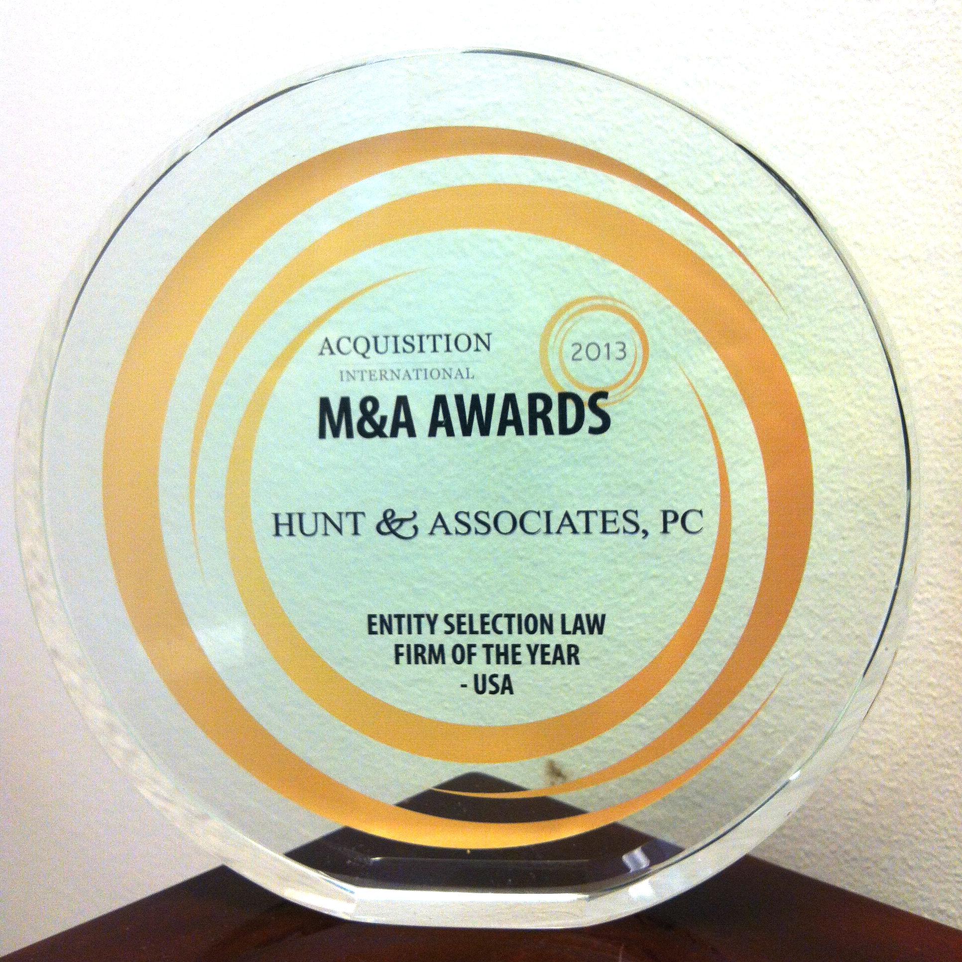 2013 M&A Award